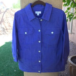 Beautiful Denim & Company Purple Denim Jacket